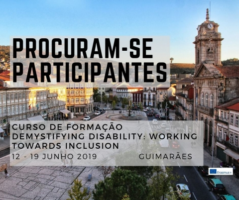"Procuram-se participantes para o curso de formação ""Demystifying Disability: working towards inclusion"""